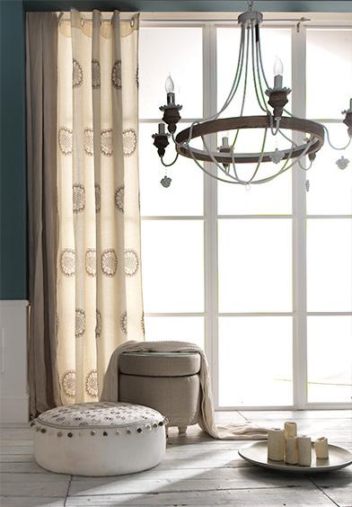 Calypso marfil lino, cortinas