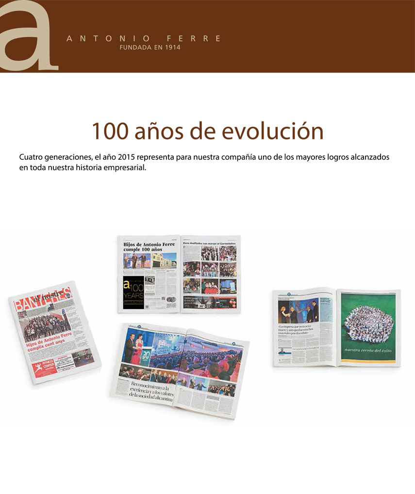100 años, aniversario empresa
